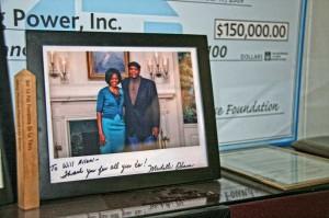 Will Allen and Michelle Obama